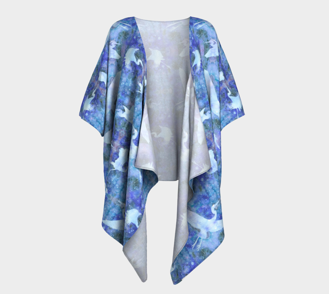Aperçu de Starry Cranes - Draped Kimono #1
