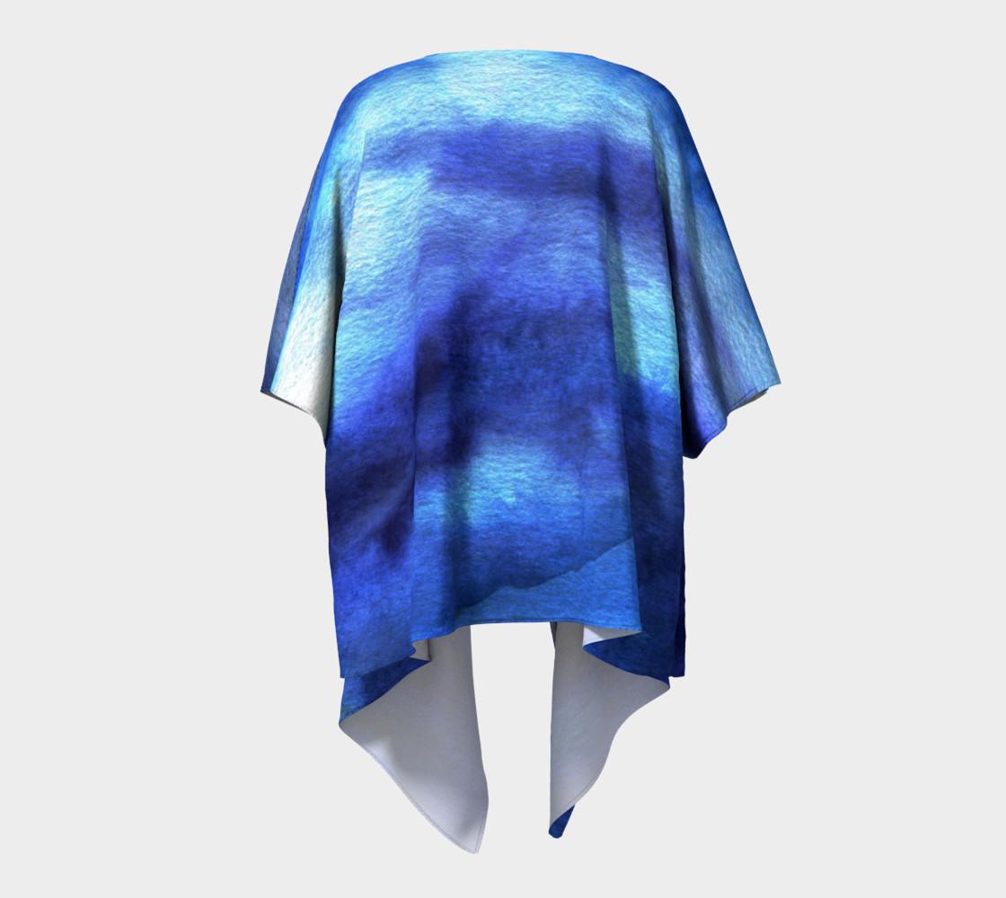 Blue watercolor Kimono preview #4