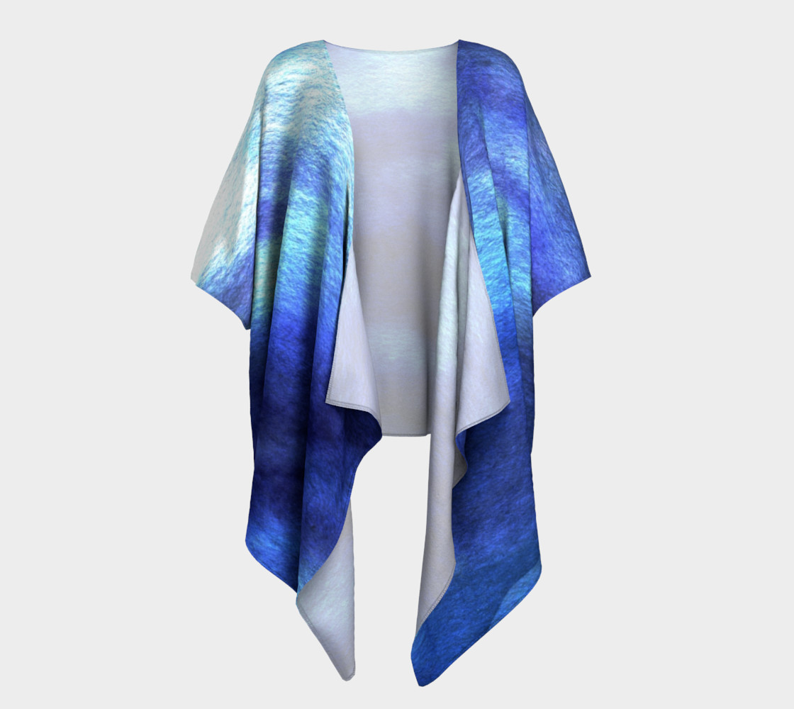 Blue watercolor Kimono preview #1