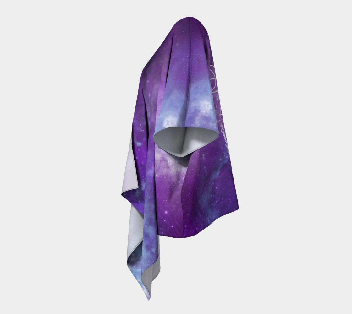 Flower of Life Geometry Moon Boho Purple Kimono preview #2