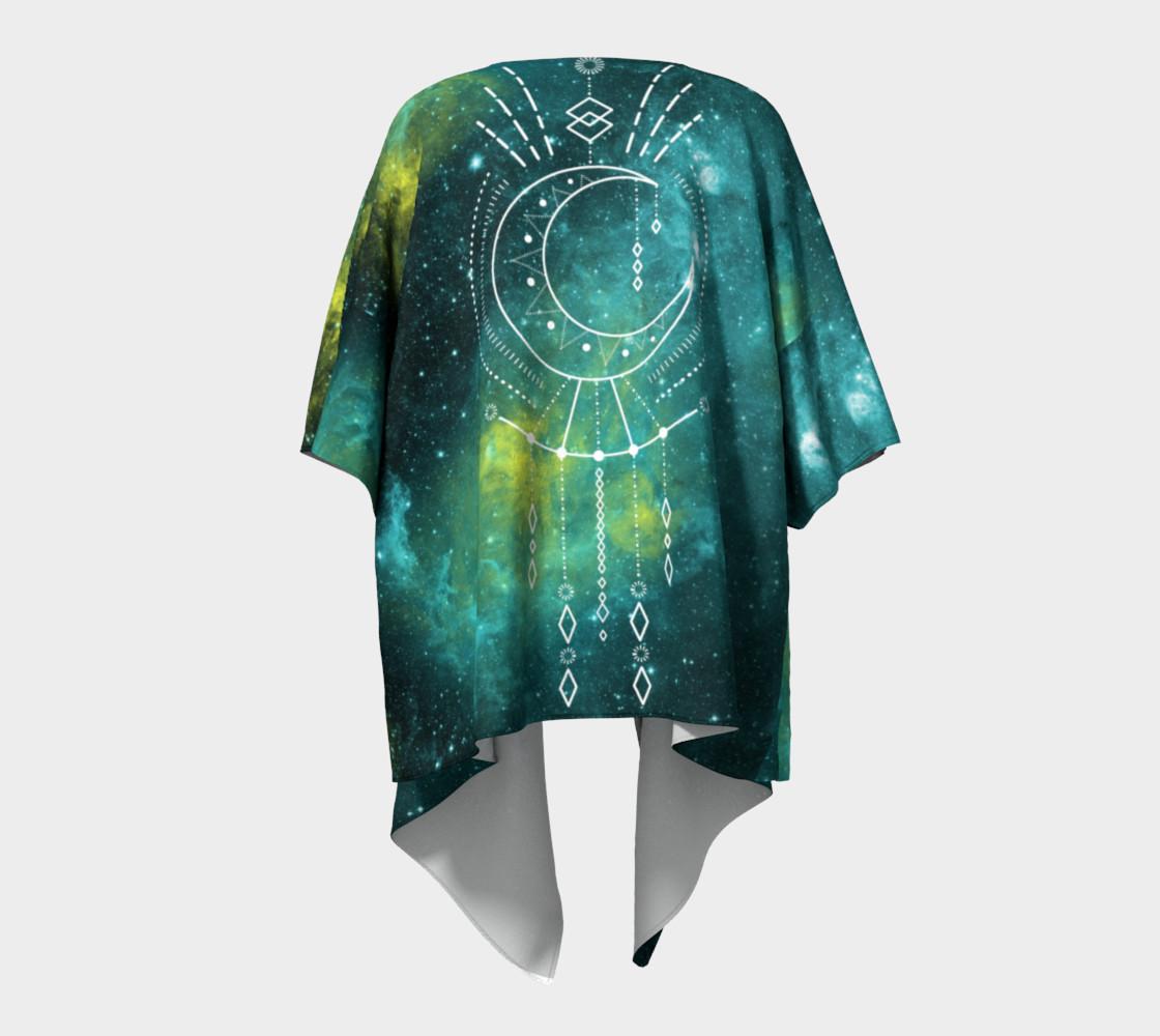 Aperçu de Blue green moon celestial geometric kimono #4