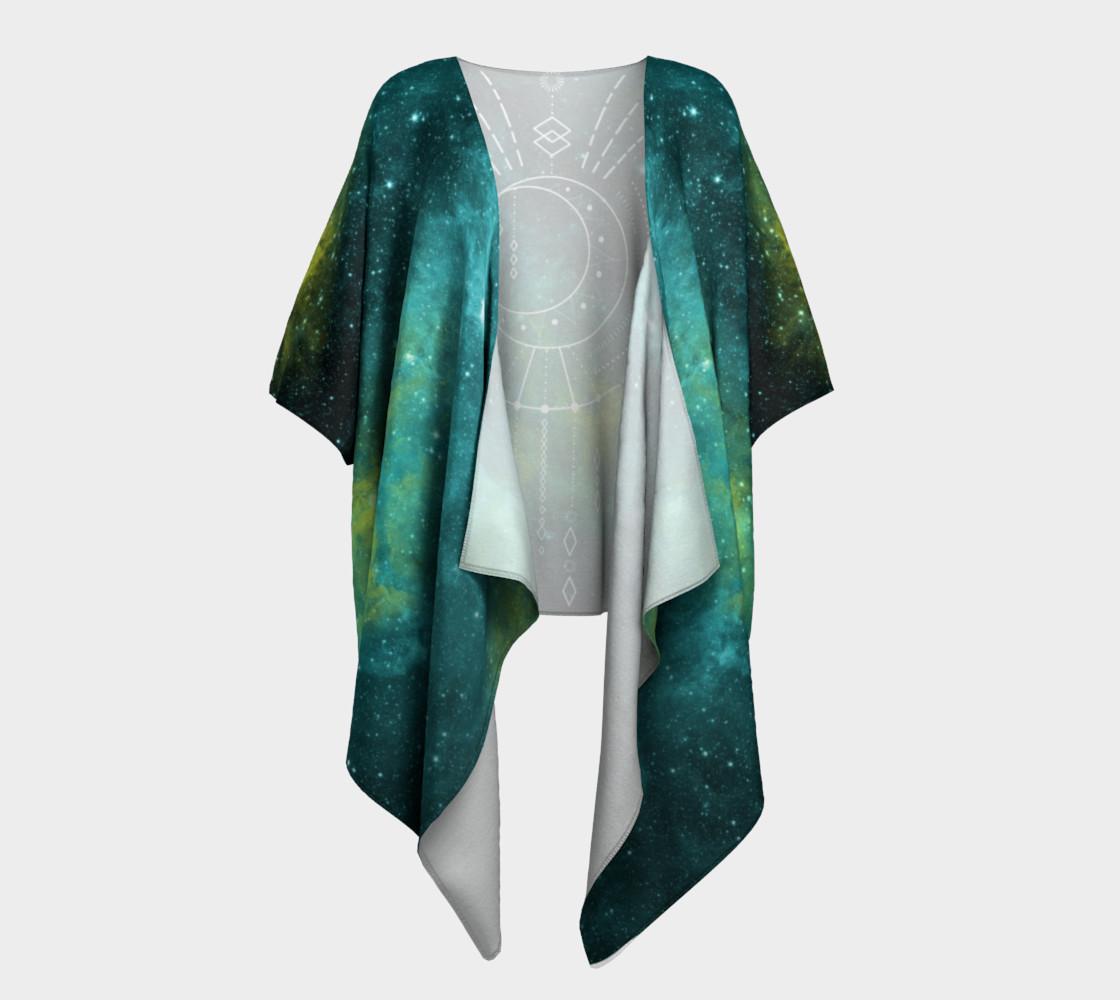 Aperçu de Blue green moon celestial geometric kimono #1