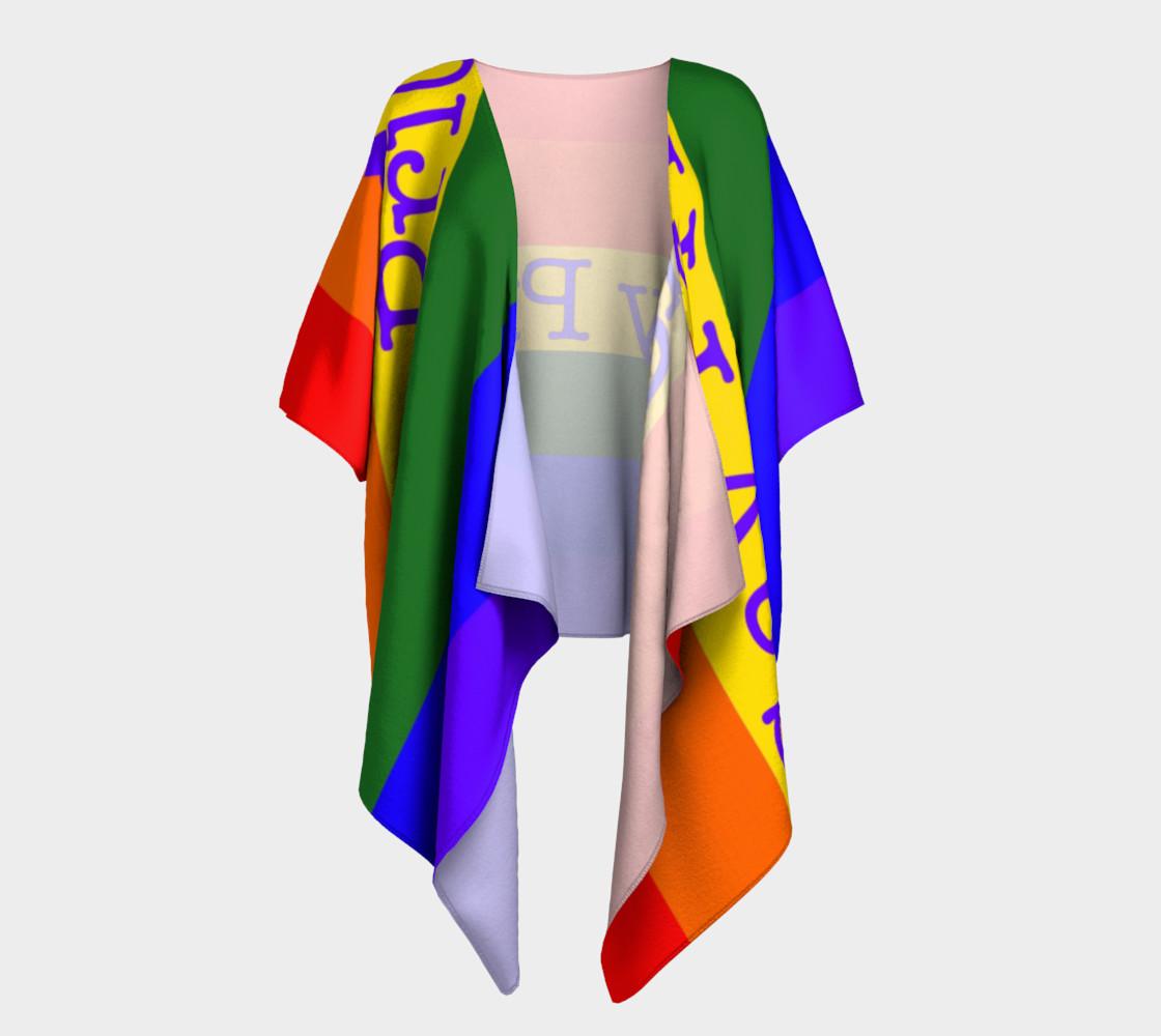Gay Pride Love Draped Kimono preview #1