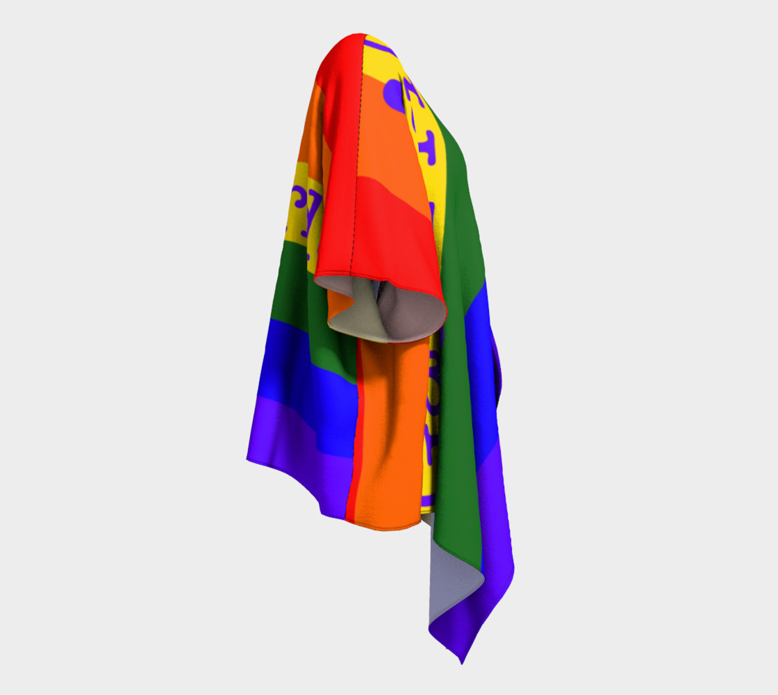 Gay Pride Love Draped Kimono preview #3