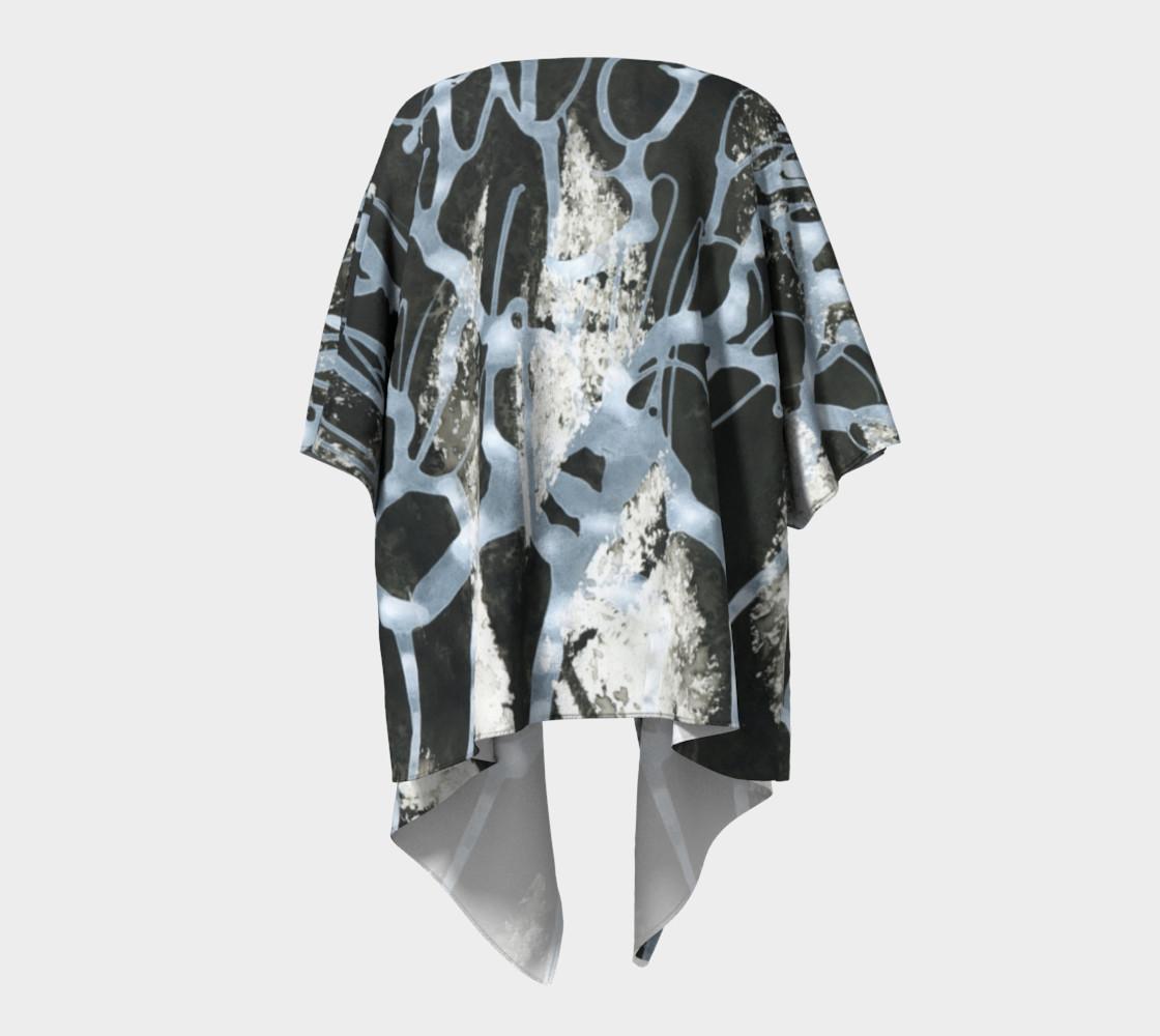 Black and White Draped Kimono preview #4