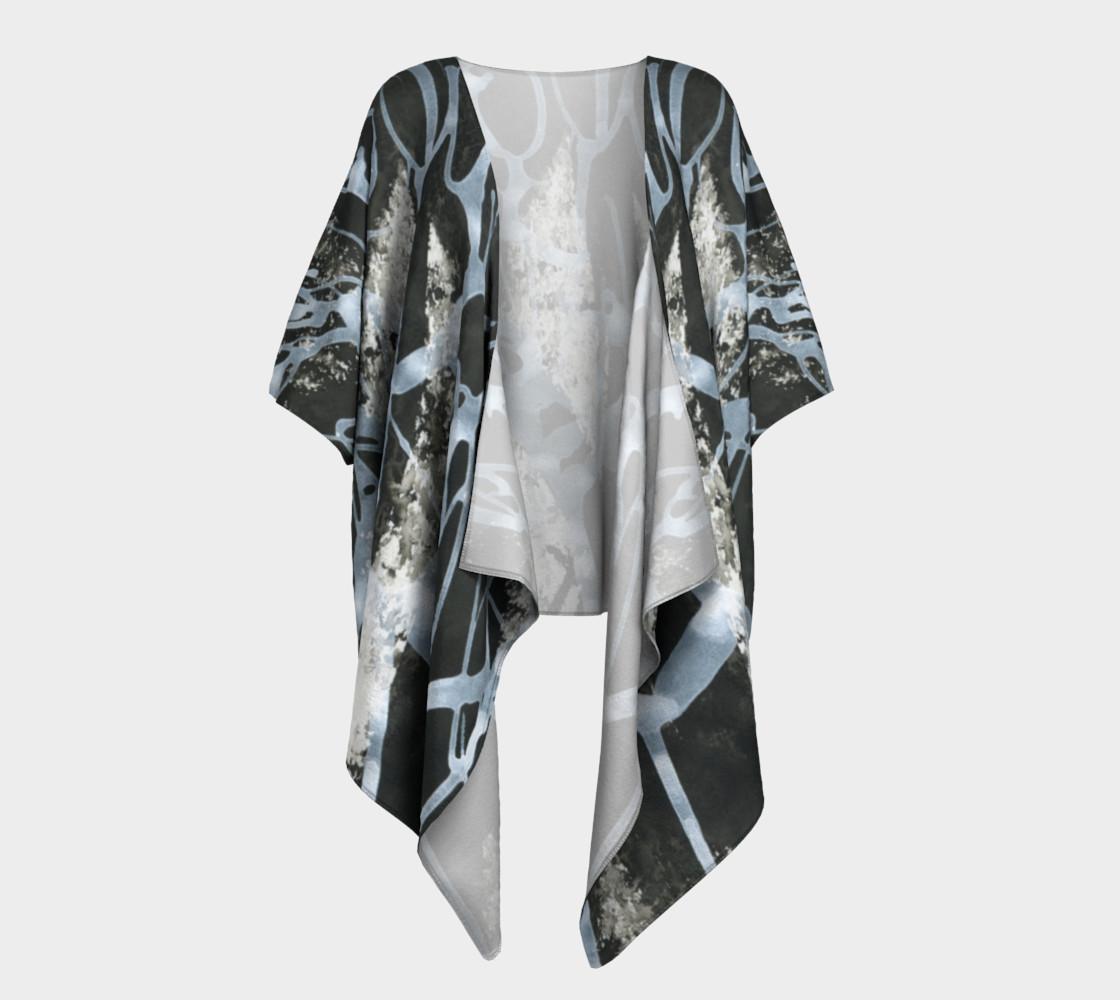 Black and White Draped Kimono preview #1