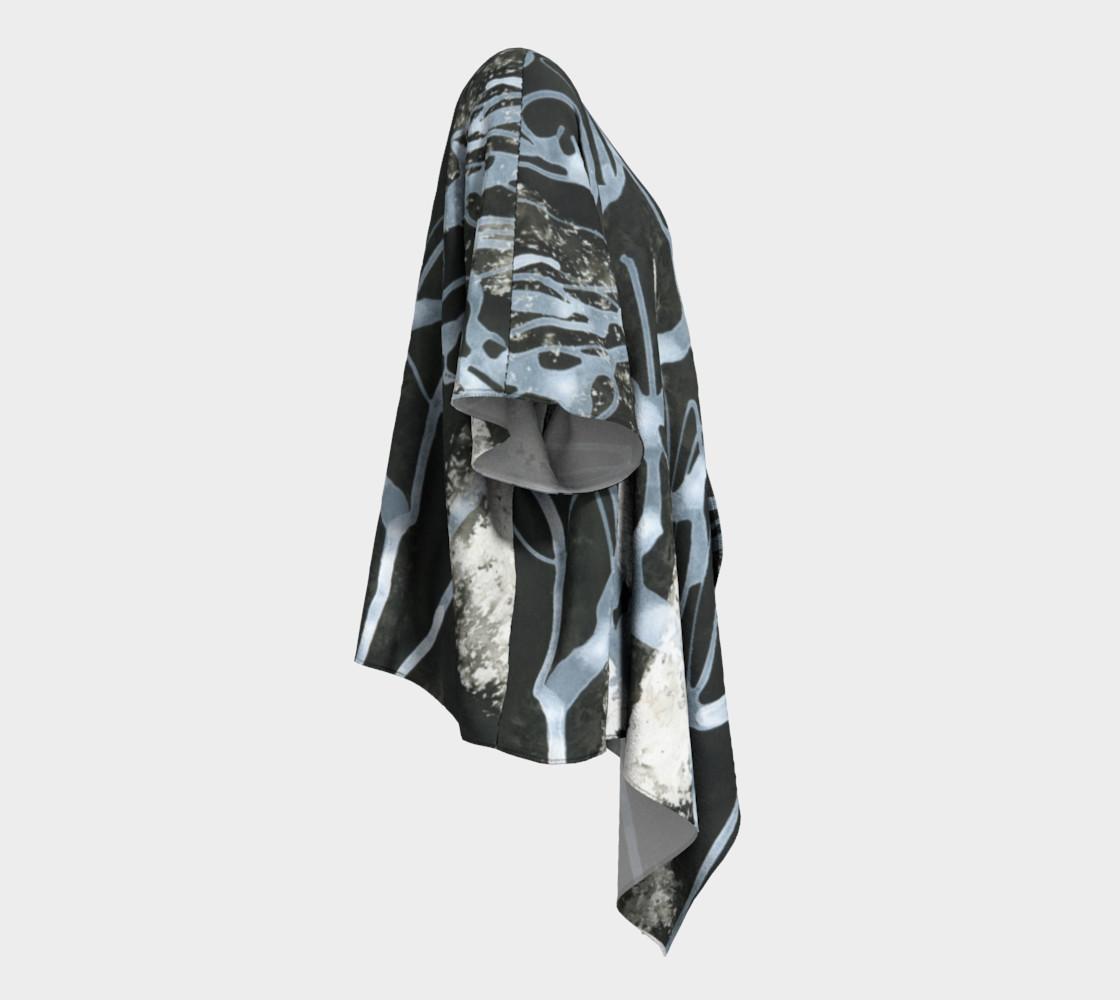 Black and White Draped Kimono preview #3
