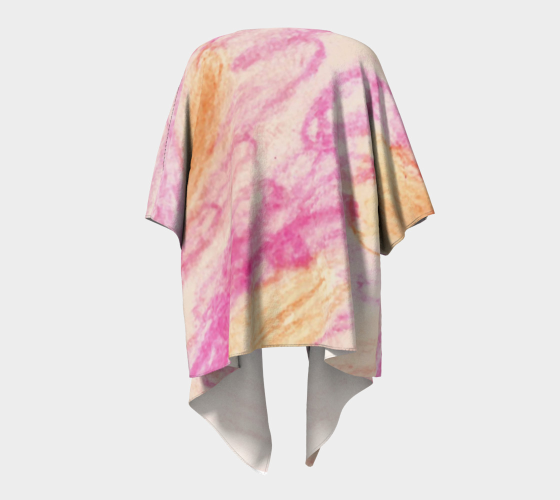 Pink Flowerets Draped Kimono preview #4