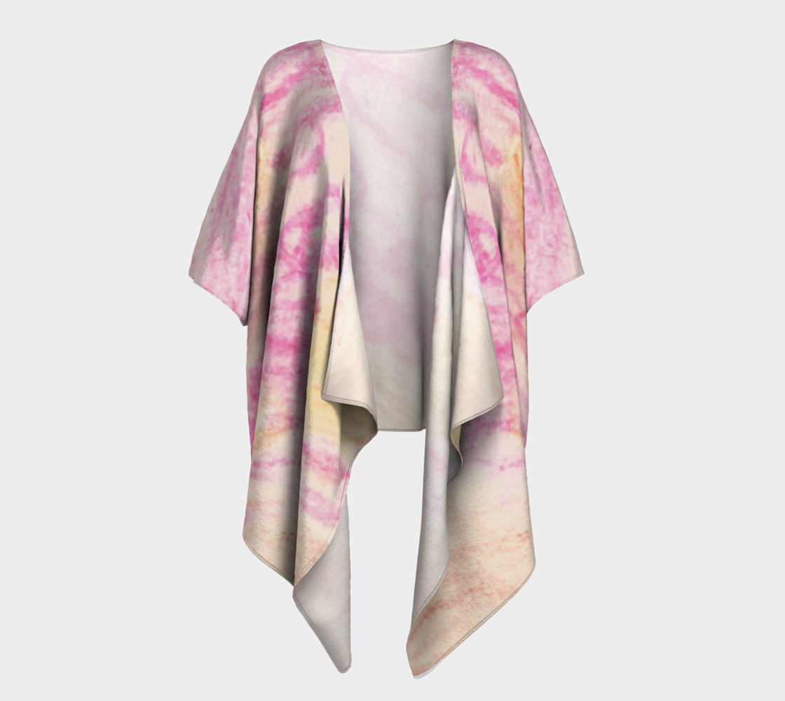 Pink Flowerets Draped Kimono preview #1