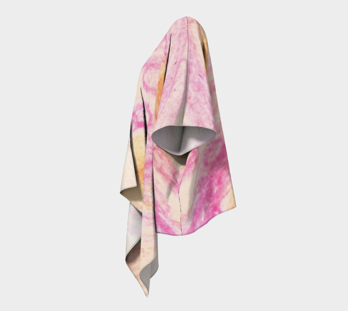 Pink Flowerets Draped Kimono preview #2