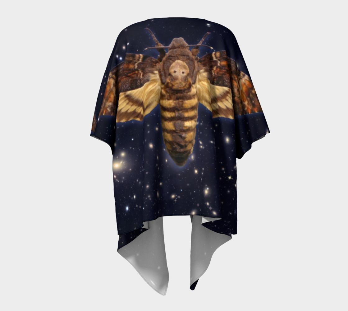 Aperçu de Stellar Death's Head Moth Draped Kimono #4