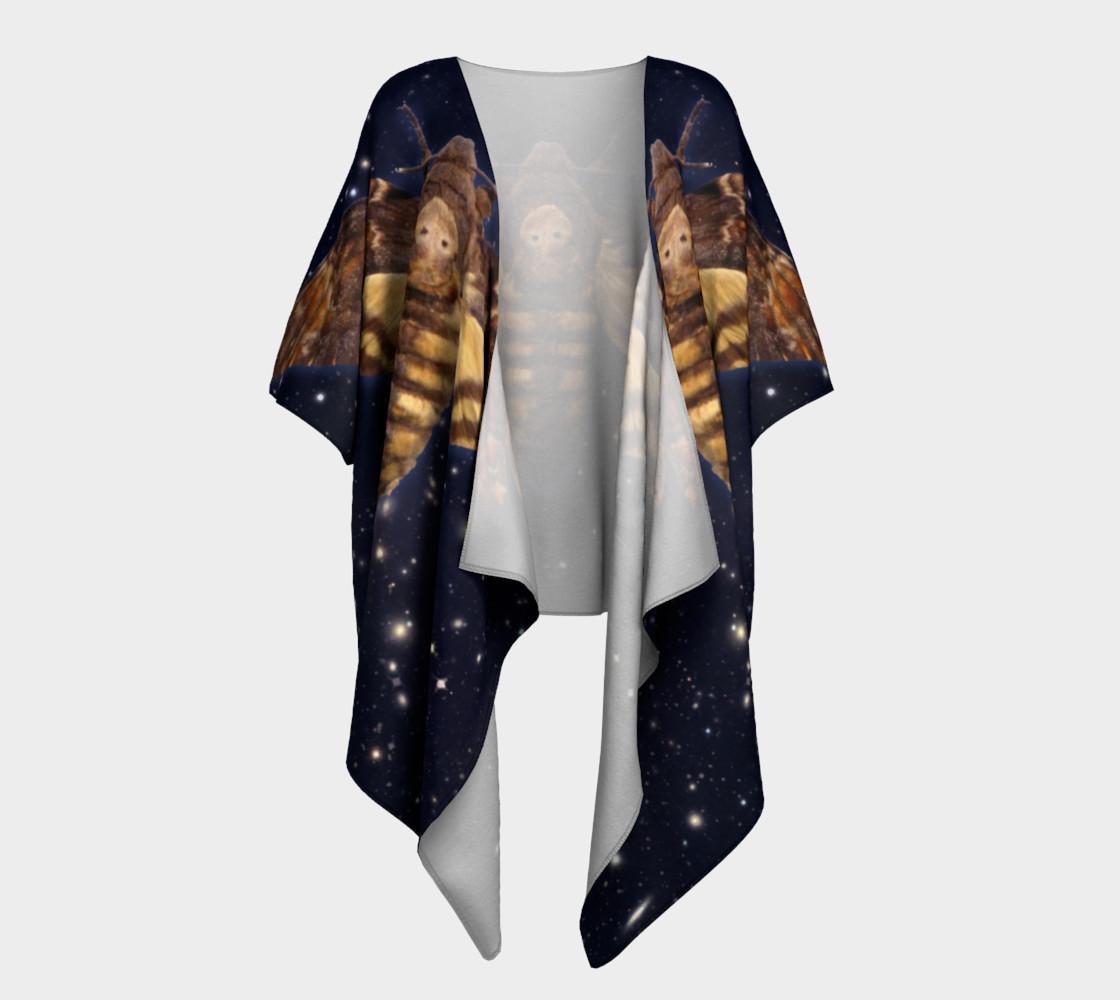 Aperçu de Stellar Death's Head Moth Draped Kimono #1