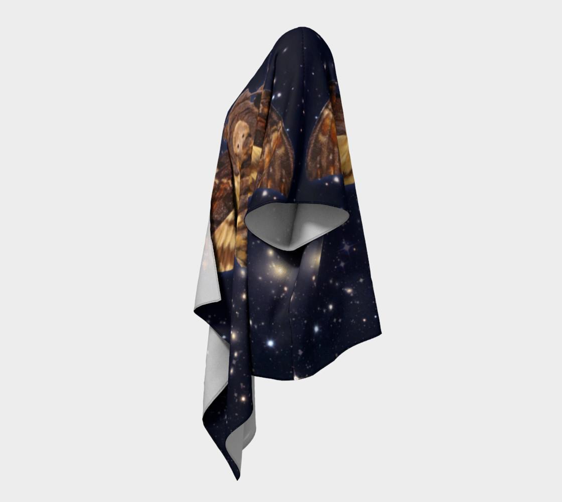 Aperçu de Stellar Death's Head Moth Draped Kimono #2