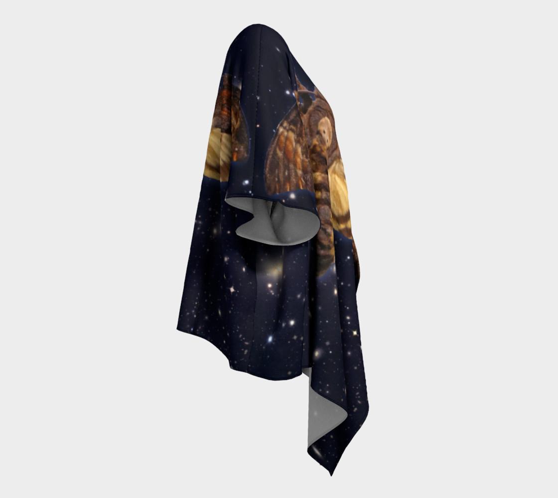 Aperçu de Stellar Death's Head Moth Draped Kimono #3