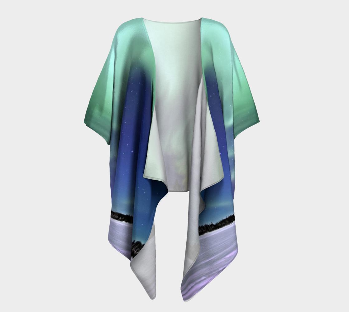 Swirling Northern Lights Draped Kimono preview #1