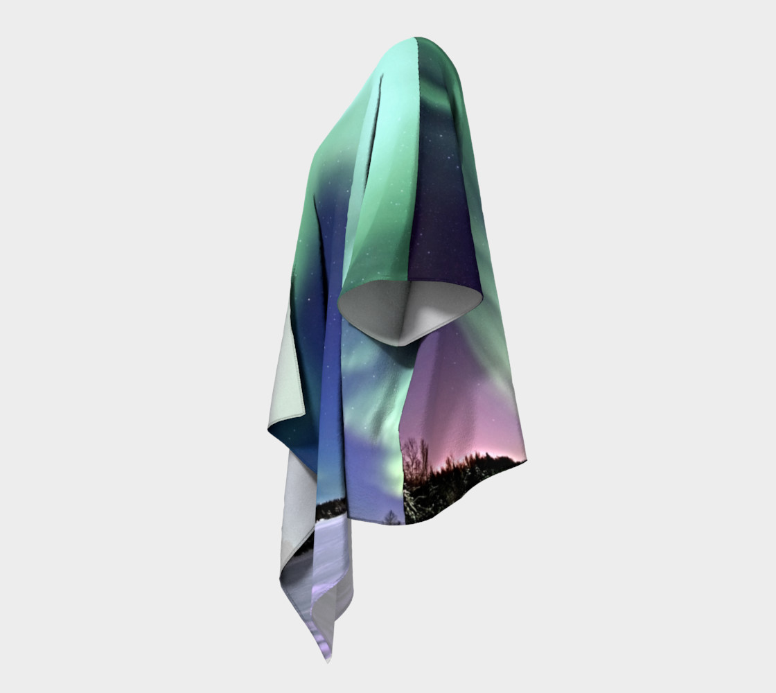 Swirling Northern Lights Draped Kimono preview #2