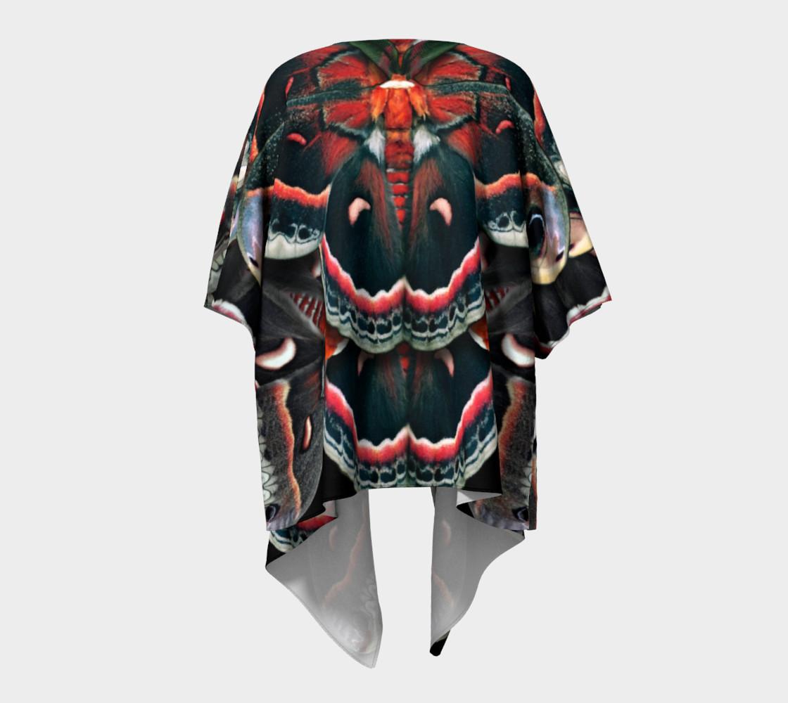 Aperçu de Mondo Cecropia Moth Draped Kimono  #4
