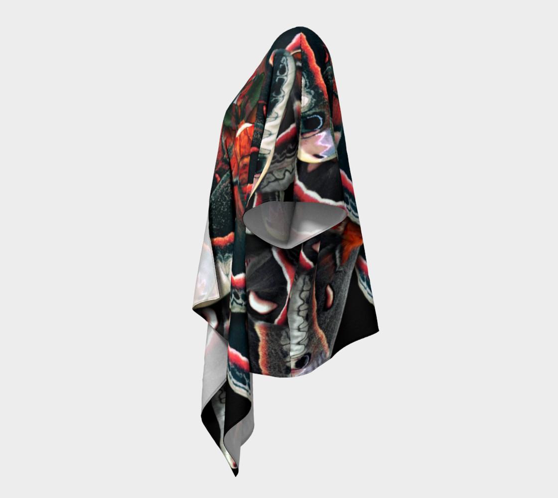 Aperçu de Mondo Cecropia Moth Draped Kimono  #2