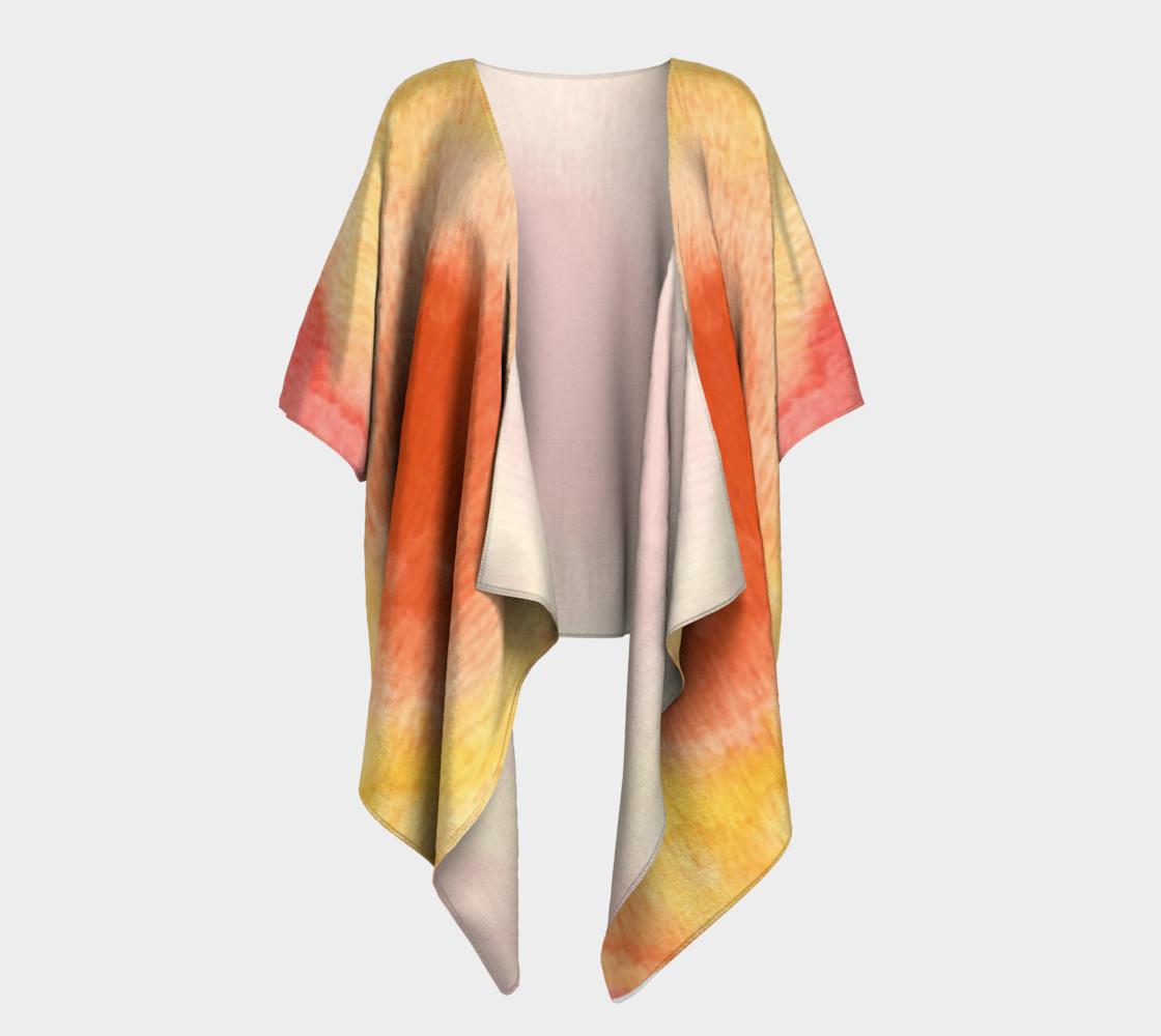 Poppy Paradise Draped Kimono preview #1