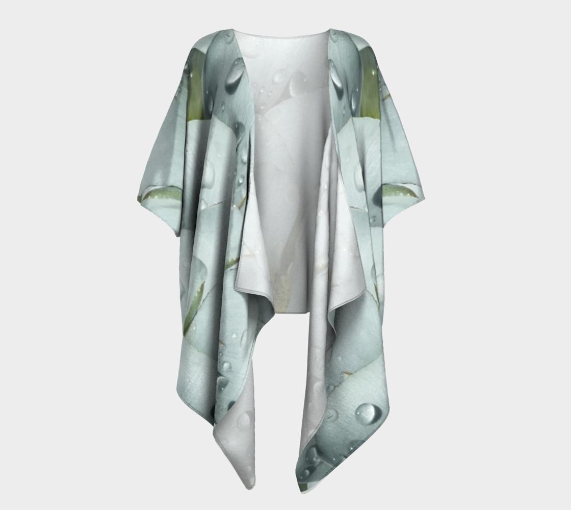 Aperçu de Mariposa Morning Dewdrop Draped Kimono #1