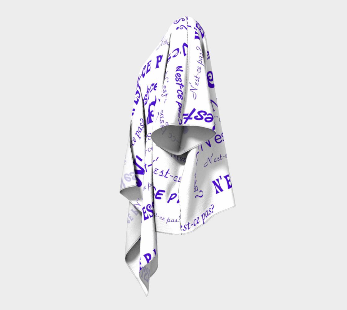 Aperçu de Purple N'est-ce Pas Draped Kimono #2