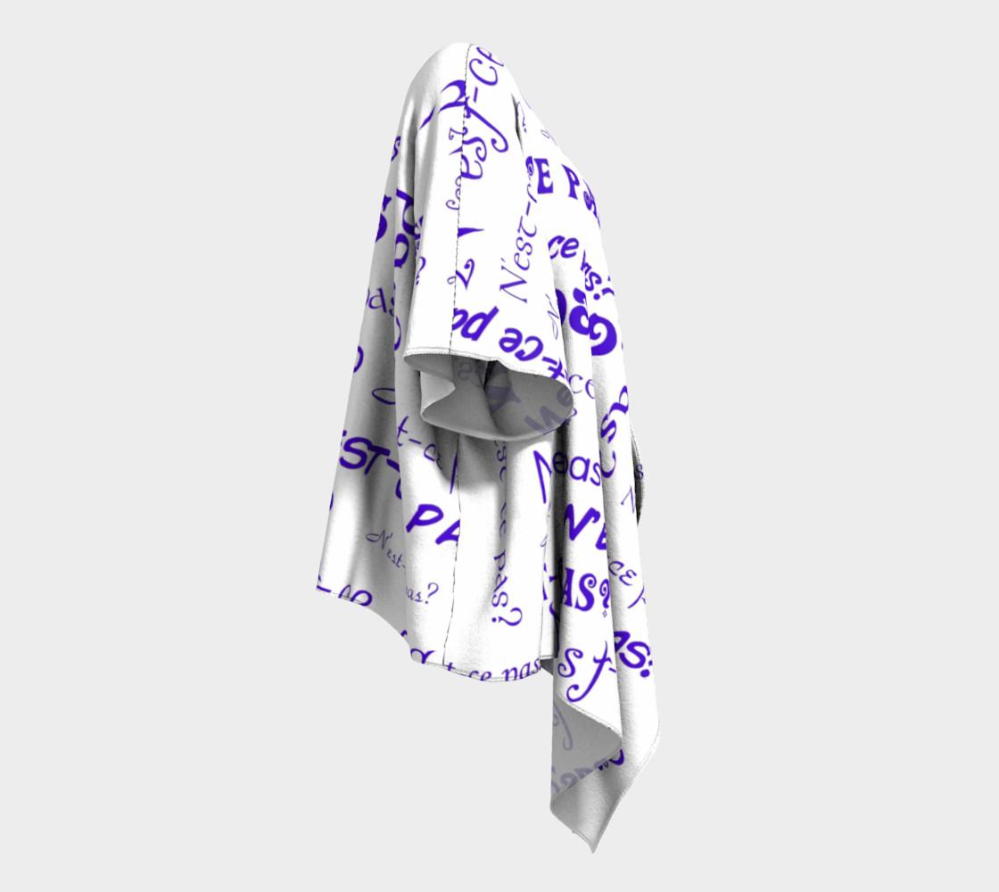 Aperçu de Purple N'est-ce Pas Draped Kimono #3