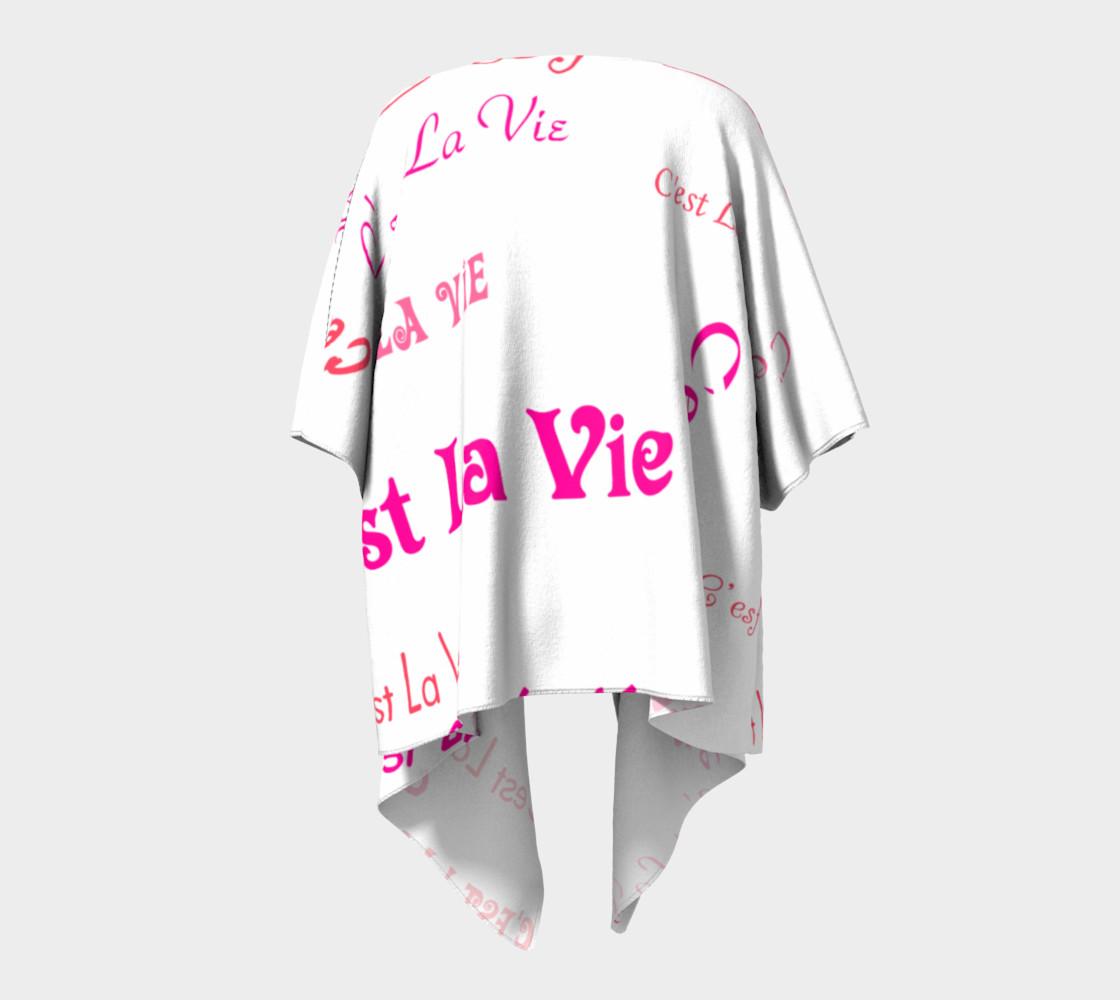 Fuchsia C'est la Vie Draped Kimono preview #4