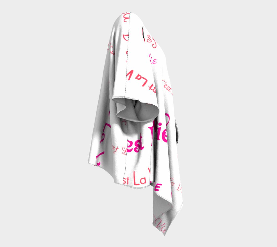 Aperçu de Fuchsia C'est la Vie Draped Kimono #3