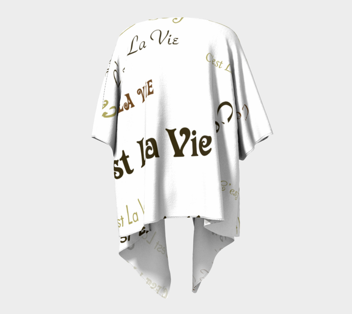 Mocha C'est la Vie Draped Kimono preview #4