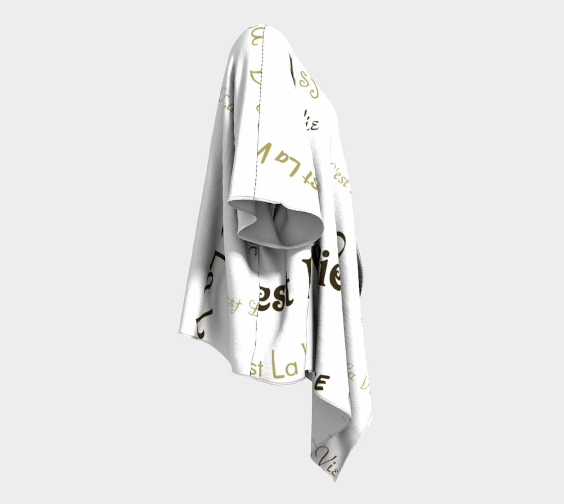Mocha C'est la Vie Draped Kimono preview #3