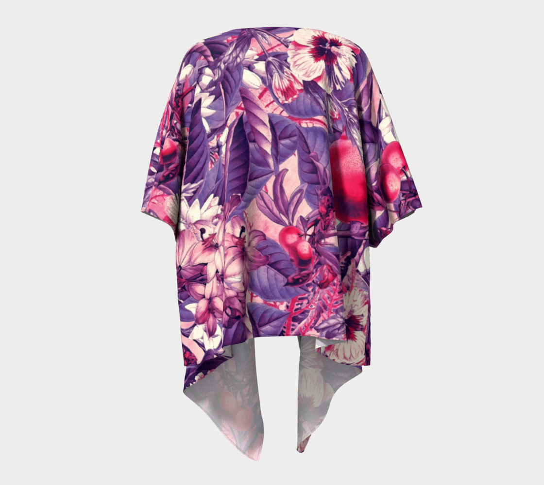 fruits and flowers draped kimono preview #4