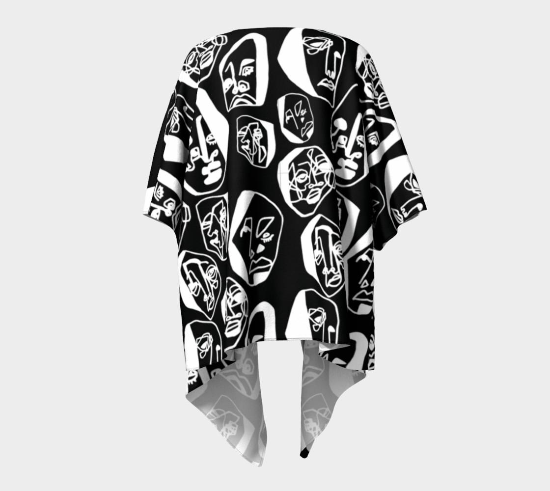7 FACES OF CURSE KIMONO DRAPED BLACK preview #4