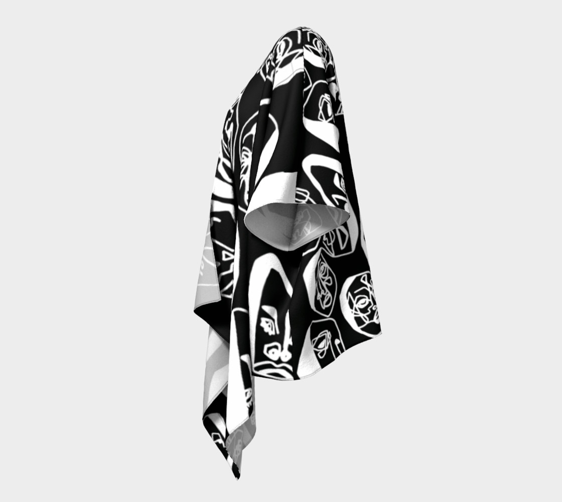 7 FACES OF CURSE KIMONO DRAPED BLACK preview #2
