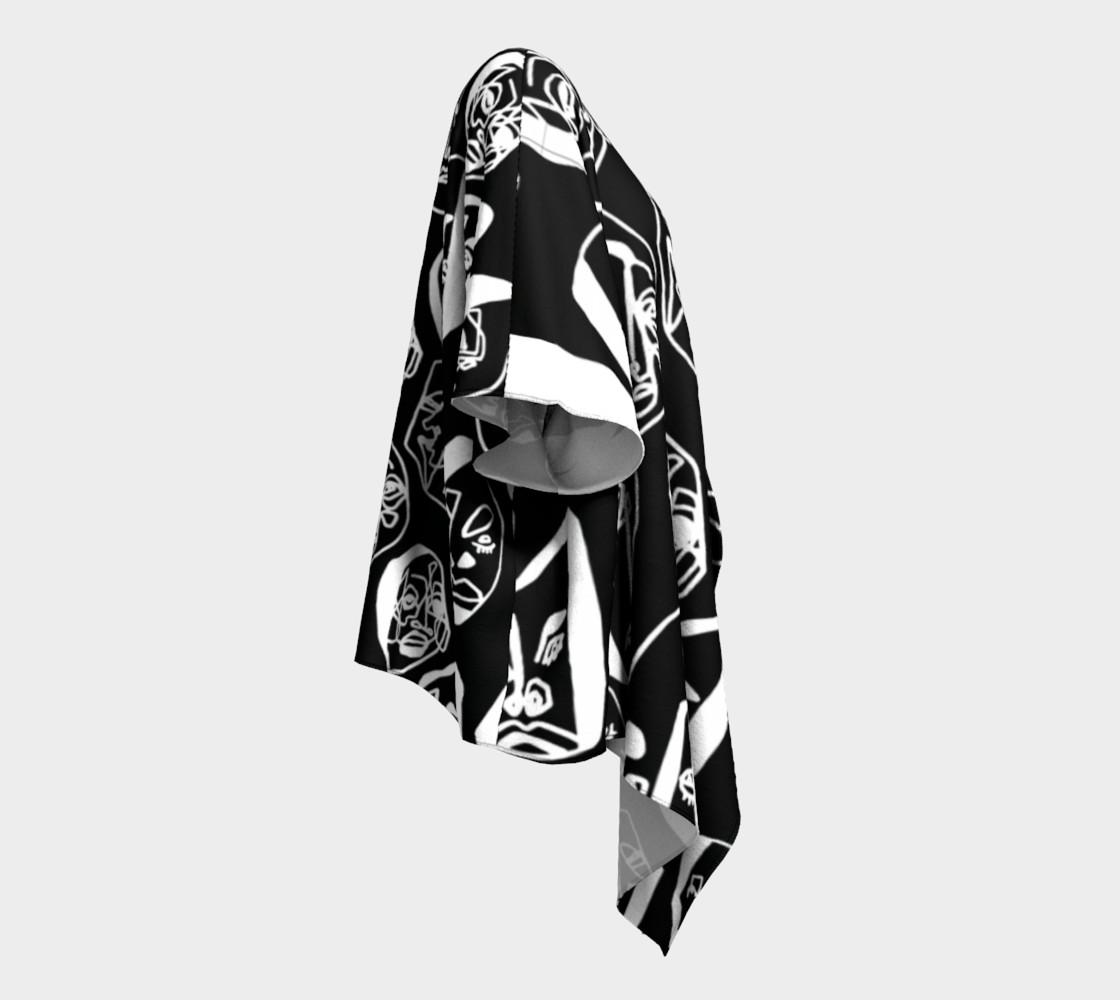 7 FACES OF CURSE KIMONO DRAPED BLACK preview #3