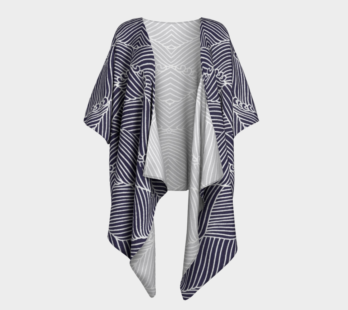 Blue Draped Kimono preview #1