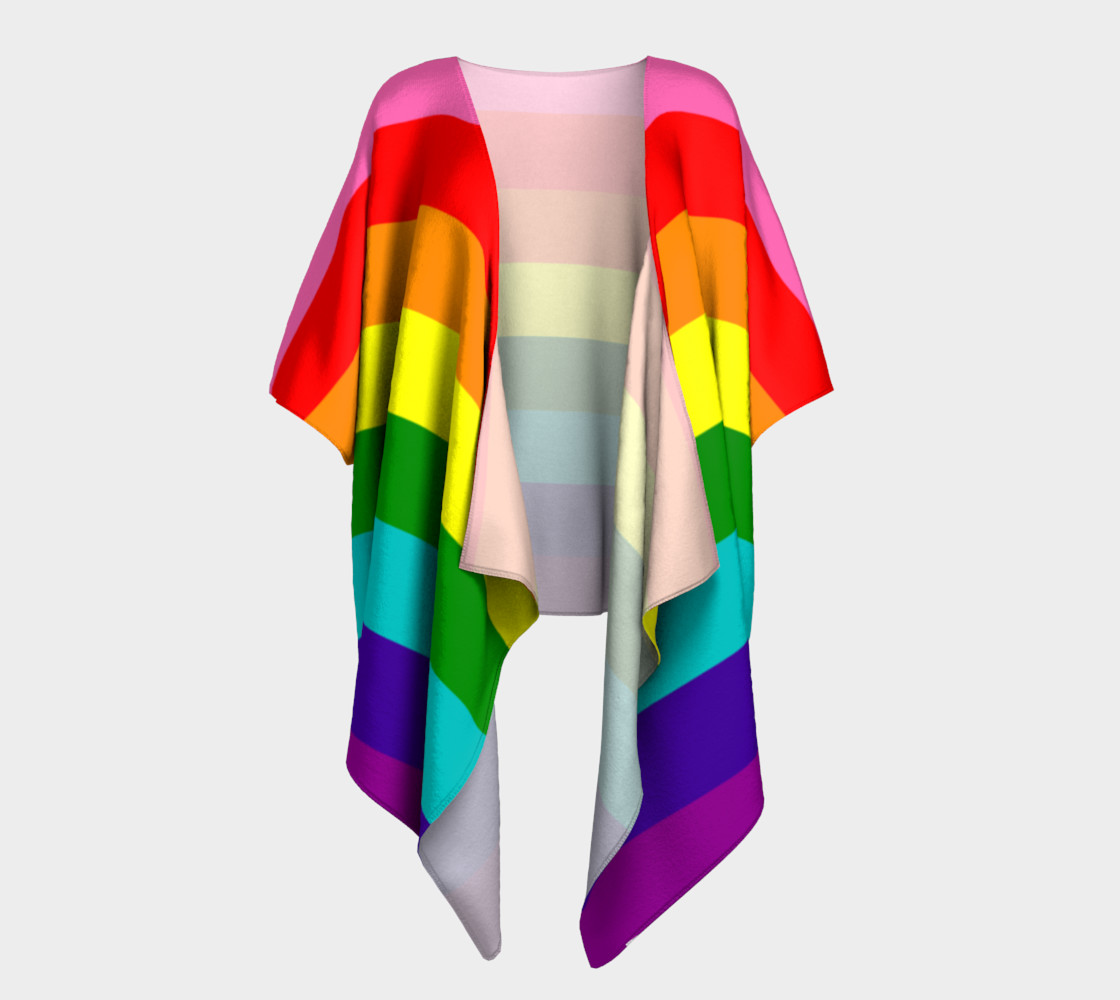 Rainbow Flag Original 8 Stripes Pattern LGBT Pride preview #1
