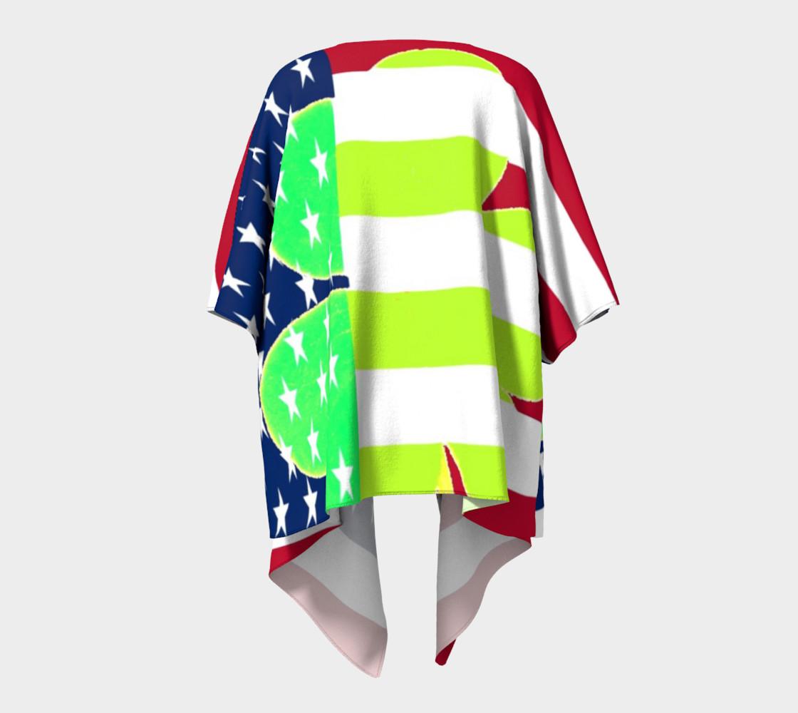 Aperçu de Funny St. Patrick Draped Kimono Irish Shamrock American Flag Colors #4