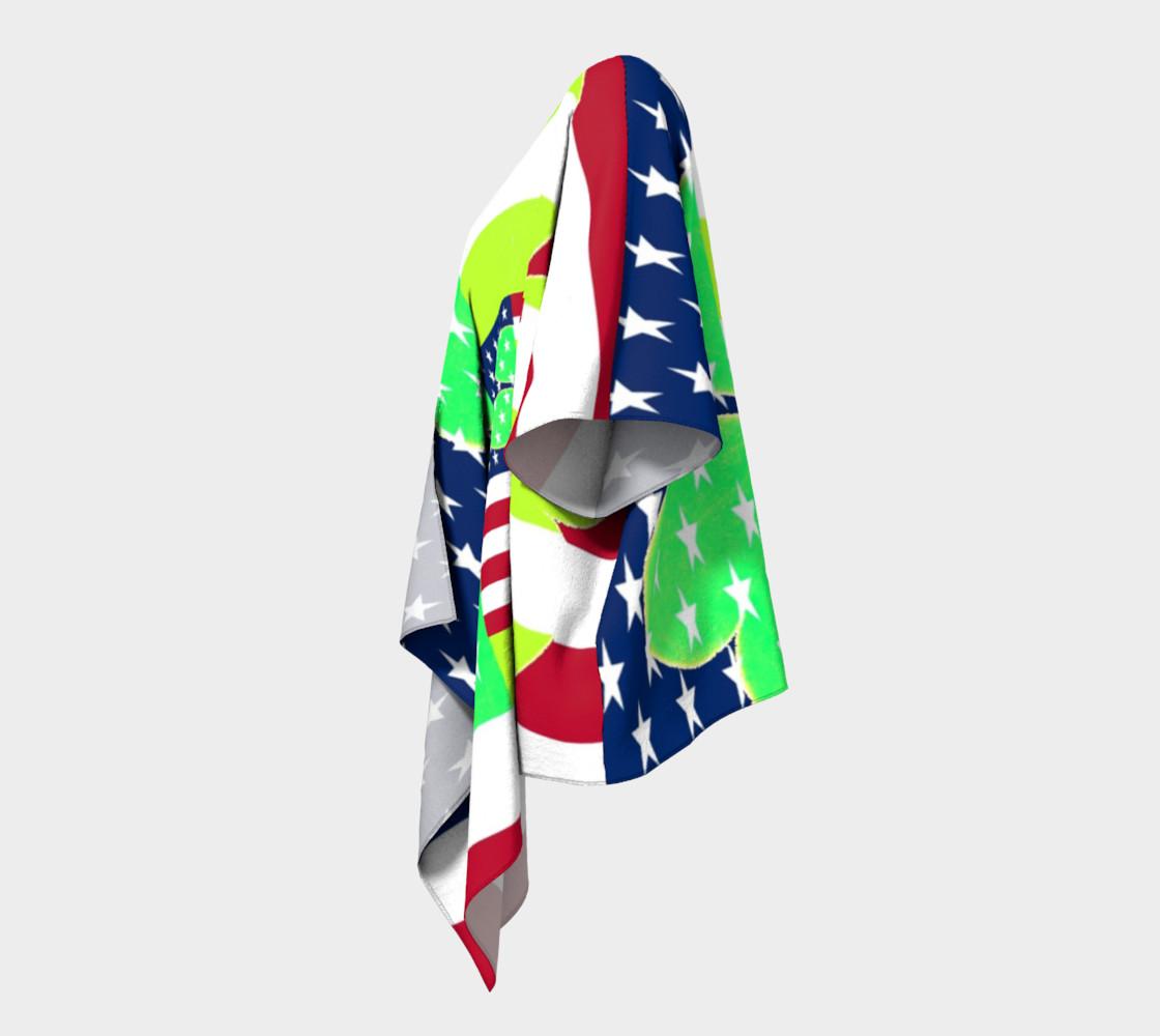 Aperçu de Funny St. Patrick Draped Kimono Irish Shamrock American Flag Colors #2