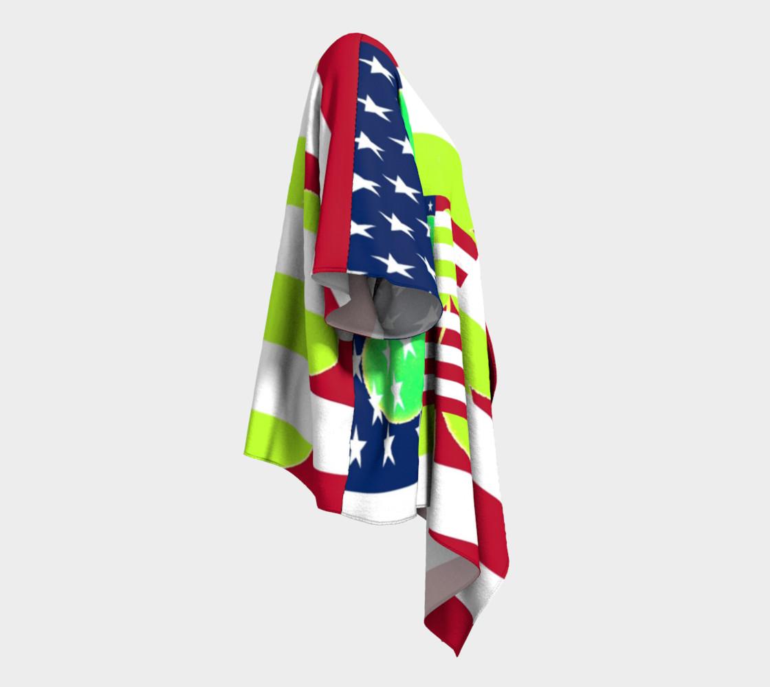 Aperçu de Funny St. Patrick Draped Kimono Irish Shamrock American Flag Colors #3
