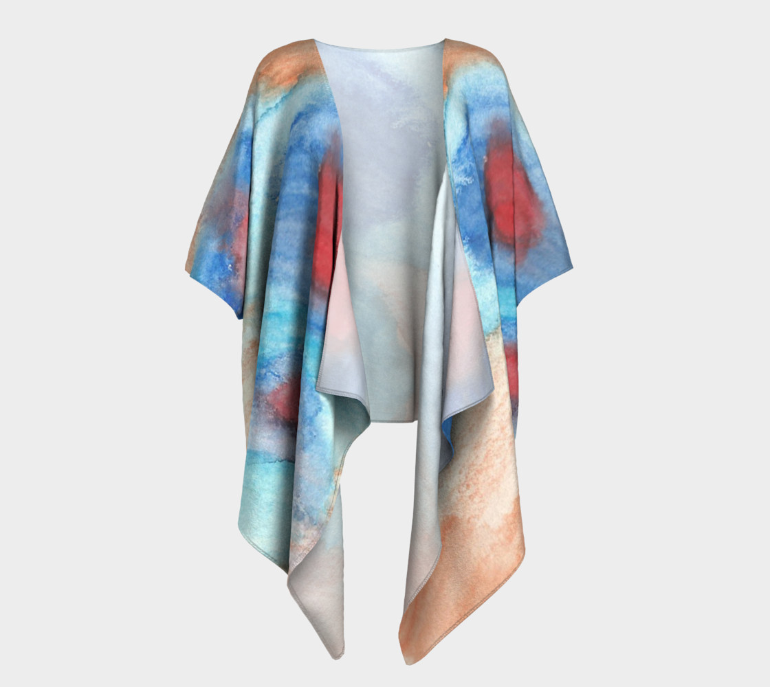 Flowers of Another Kind Draped Kimono preview #1