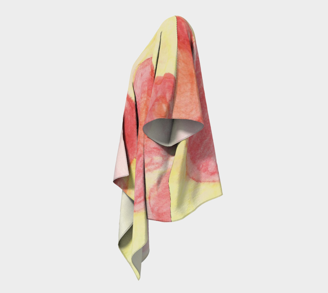 Red Flower Blooms Draped Kimono preview #2