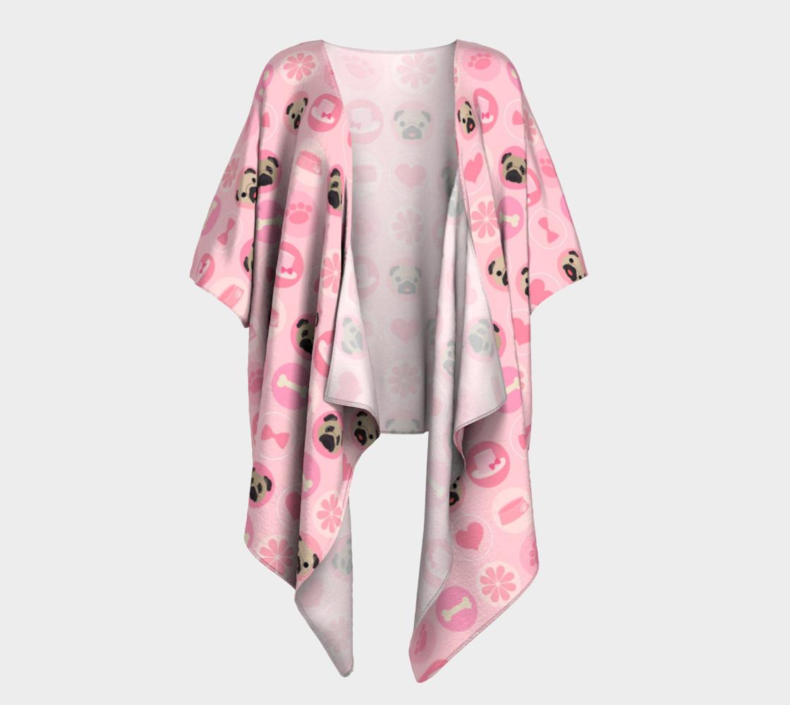 Aperçu de Fawn Pugs - Pastel Pink Valentine's Kimono #1
