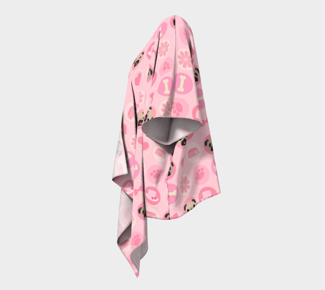 Aperçu de Fawn Pugs - Pastel Pink Valentine's Kimono #2