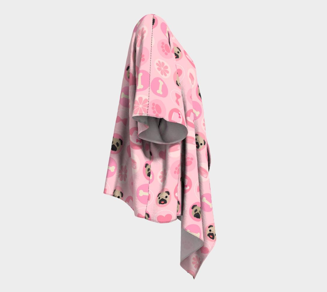 Aperçu de Fawn Pugs - Pastel Pink Valentine's Kimono #3