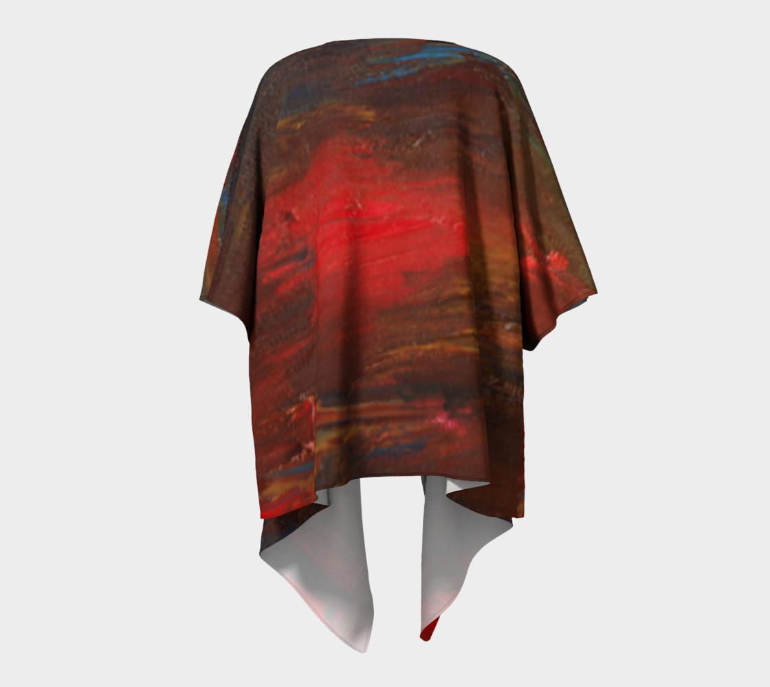Crimson Ocean Kimono Robe preview #4