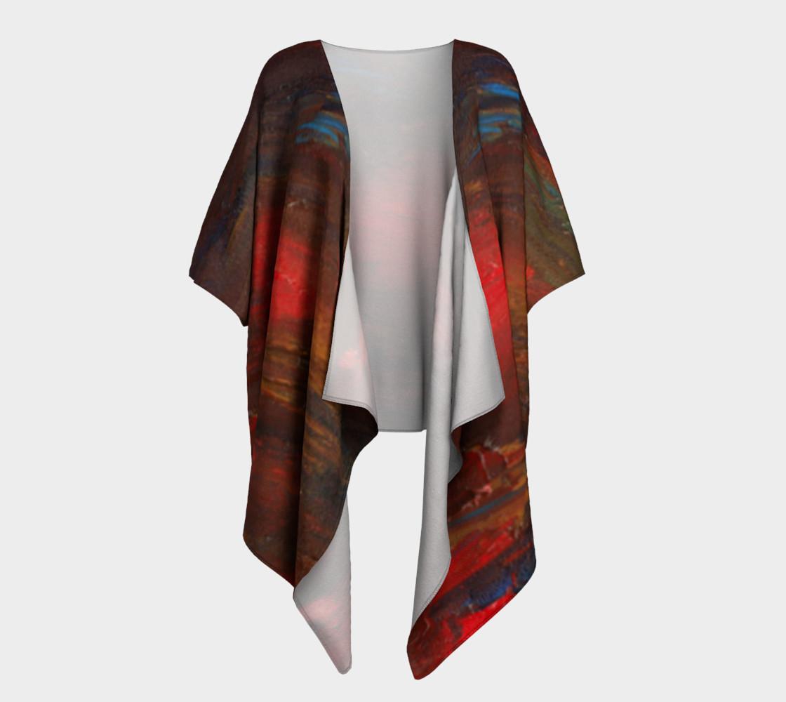 Crimson Ocean Kimono Robe preview #1