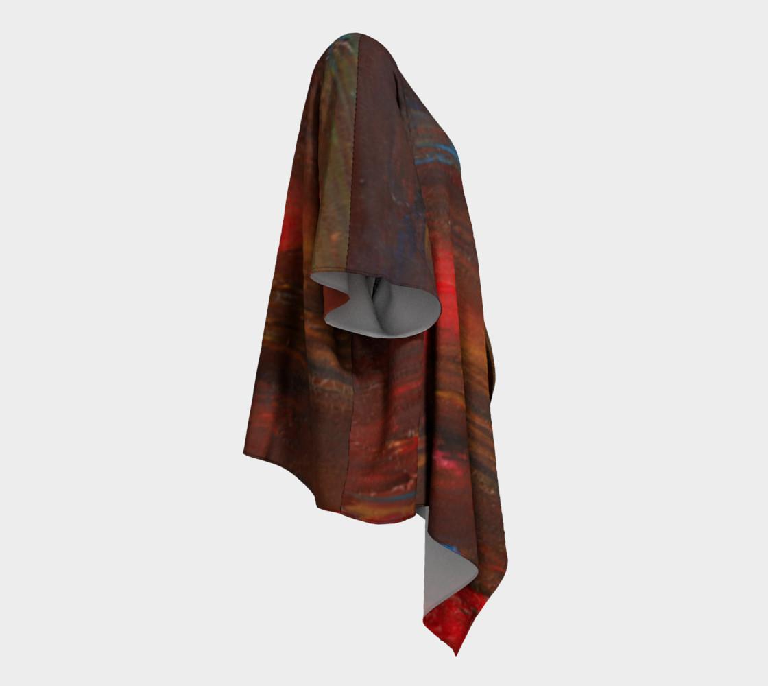 Crimson Ocean Kimono Robe preview #3