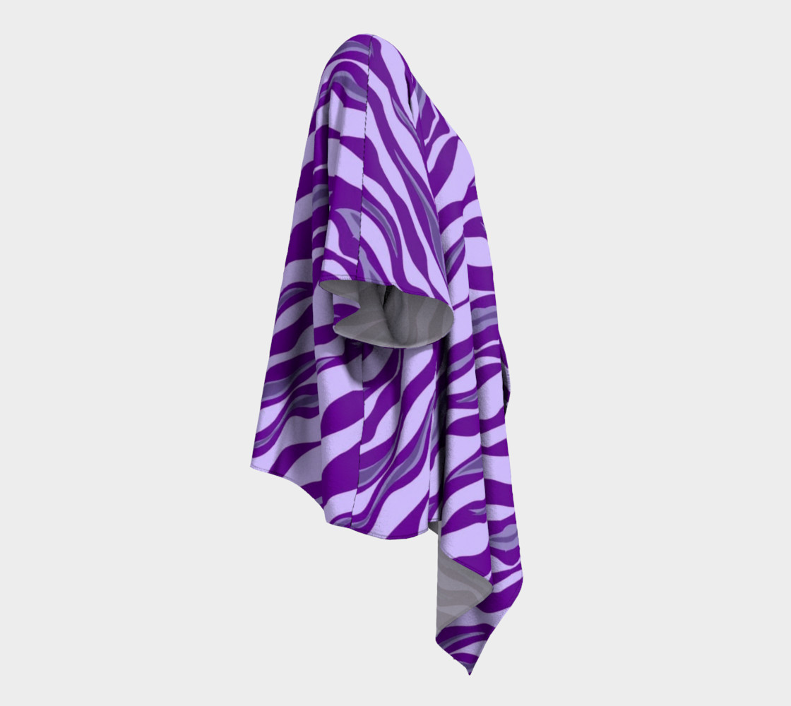 Aperçu de Purple Tiger Stripe Draped Kimono #3
