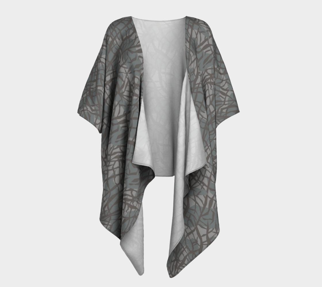 Aperçu de Elephant Skin Draped Kimono #1