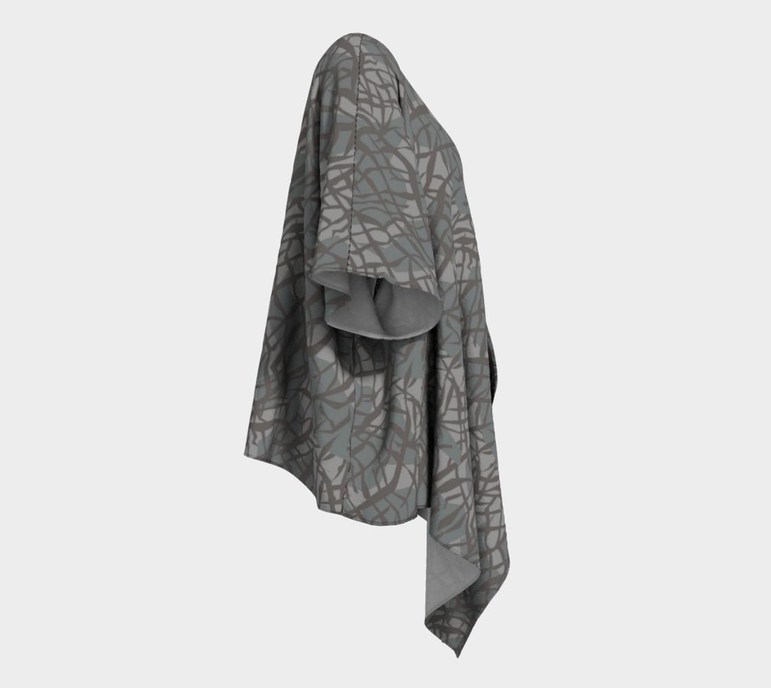 Aperçu de Elephant Skin Draped Kimono #3
